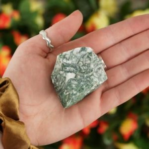 Shop Moss Agate Stones & Crystals! Large Raw Moss Agate Rough Crystal   Natural genuine stones & crystals in various shapes & sizes. Buy raw cut, tumbled, or polished gemstones for making jewelry or crystal healing energy vibration raising reiki stones. #crystals #gemstones #crystalhealing #crystalsandgemstones #energyhealing #affiliate #ad