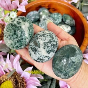 Shop Moss Agate Shapes! Moss Agate Palms – Moss Agate Stone – No.182/183 | Natural genuine stones & crystals in various shapes & sizes. Buy raw cut, tumbled, or polished gemstones for making jewelry or crystal healing energy vibration raising reiki stones. #crystals #gemstones #crystalhealing #crystalsandgemstones #energyhealing #affiliate #ad