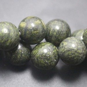Shop Serpentine Round Beads! Natural Serpentine Smooth Round Beads,Natural Serpentine Beads,Natural beads,Green beads ,15'' per strand,4mm 6mm 8mm 10mm 12mm   Natural genuine round Serpentine beads for beading and jewelry making.  #jewelry #beads #beadedjewelry #diyjewelry #jewelrymaking #beadstore #beading #affiliate #ad