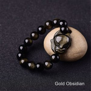 Gold Sheen Obsidian Bracelet,Rainbow Eye Obsidian Fox Bracelet for Men Women,Natural Stone Healing Crystal Protection Energy Bracelet Gift | Natural genuine Array bracelets. Buy handcrafted artisan men's jewelry, gifts for men.  Unique handmade mens fashion accessories. #jewelry #beadedbracelets #beadedjewelry #shopping #gift #handmadejewelry #bracelets #affiliate #ad