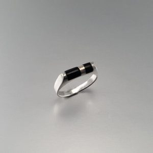 Ring Onyx and Sterling silver unique gift for her natural black gemstone 7 year anniversary | Natural genuine Gemstone rings, simple unique handcrafted gemstone rings. #rings #jewelry #shopping #gift #handmade #fashion #style #affiliate #ad
