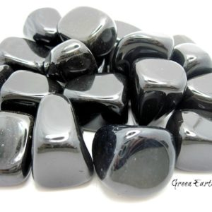 Shop Tumbled Onyx Crystals & Pocket Stones! One Black Onyx Tumbled Stone, Chunky, Large, Feng Shui, Wicca, Reiki, Healing Crystals,   Natural genuine stones & crystals in various shapes & sizes. Buy raw cut, tumbled, or polished gemstones for making jewelry or crystal healing energy vibration raising reiki stones. #crystals #gemstones #crystalhealing #crystalsandgemstones #energyhealing #affiliate #ad