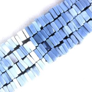 """Shop Opal Bead Shapes! Good Quality 16"""" Long Strand Natural Blue Opal Heishi beads,Smooth Square Beads,Opal Beads,6-7 MM Size Gemstone Beads, Wholesale Price 