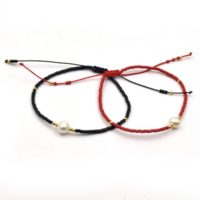 Cord Bracelet | Corded Sliding Bracelet With Pearl | Red And Black Available | Natural genuine Gemstone jewelry. Buy crystal jewelry, handmade handcrafted artisan jewelry for women.  Unique handmade gift ideas. #jewelry #beadedjewelry #beadedjewelry #gift #shopping #handmadejewelry #fashion #style #product #jewelry #affiliate #ad
