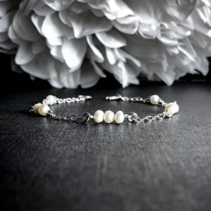 Shop Pearl Bracelets! Cultured Pearls Pearl Bracelet, Sterling Silver Satellite Chain Bracelet, Anklet, Ankle Bracelet   Natural genuine Pearl bracelets. Buy crystal jewelry, handmade handcrafted artisan jewelry for women.  Unique handmade gift ideas. #jewelry #beadedbracelets #beadedjewelry #gift #shopping #handmadejewelry #fashion #style #product #bracelets #affiliate #ad