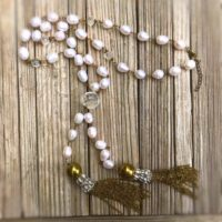 Pearl Necklace – Long – Brass Jewelry – Gemstone Jewellery – Crystal – Tassel – Luxe | Natural genuine Gemstone jewelry. Buy crystal jewelry, handmade handcrafted artisan jewelry for women.  Unique handmade gift ideas. #jewelry #beadedjewelry #beadedjewelry #gift #shopping #handmadejewelry #fashion #style #product #jewelry #affiliate #ad