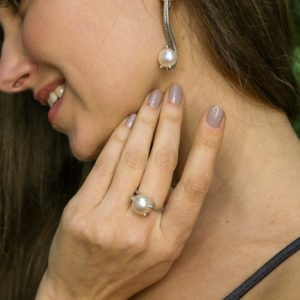 Shop Pearl Rings! White Pearl Ring, Natural Pearl, Vintage Pearl Ring, June Birthstone, Wedding Ring, White Ring, Rope Band Ring, Antique Ring, Silver Ring | Natural genuine Pearl rings, simple unique alternative gemstone engagement rings. #rings #jewelry #bridal #wedding #jewelryaccessories #engagementrings #weddingideas #affiliate #ad