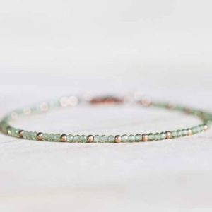 Peridot Bracelet with Rose Gold Fill or Sterling Silver, Ultra Delicate August Birthstone Bracelet, Peridot Jewelry, Green Gemstone Bracelet | Natural genuine Peridot bracelets. Buy crystal jewelry, handmade handcrafted artisan jewelry for women.  Unique handmade gift ideas. #jewelry #beadedbracelets #beadedjewelry #gift #shopping #handmadejewelry #fashion #style #product #bracelets #affiliate #ad