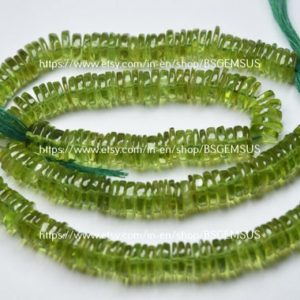 Shop Peridot Bead Shapes! 7 Inches Strand, Natural Peridot Smooth Button Beads, Size 7.5-8mm | Natural genuine other-shape Peridot beads for beading and jewelry making.  #jewelry #beads #beadedjewelry #diyjewelry #jewelrymaking #beadstore #beading #affiliate #ad