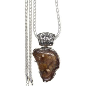 Shop Petrified Wood Pendants! Filigree Antique Bail!  Utah Mined PETRIFIED WOOD Fossil 925 Sterling Silver Pendant  4MM Italian Snake Chain P606 | Natural genuine Petrified Wood pendants. Buy crystal jewelry, handmade handcrafted artisan jewelry for women.  Unique handmade gift ideas. #jewelry #beadedpendants #beadedjewelry #gift #shopping #handmadejewelry #fashion #style #product #pendants #affiliate #ad