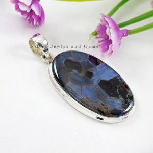 Shop Pietersite Pendants! Natural Pietersite Pendant, Handmade Silver Pendant, 925 Sterling Silver Pendant, Oval Pietersite Pendant, Gift for her, Anniversary Pendant   Natural genuine Pietersite pendants. Buy crystal jewelry, handmade handcrafted artisan jewelry for women.  Unique handmade gift ideas. #jewelry #beadedpendants #beadedjewelry #gift #shopping #handmadejewelry #fashion #style #product #pendants #affiliate #ad