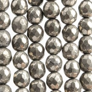 Shop Pyrite Faceted Beads! 65 / 31 Pcs – 5-6MM Copper Pyrite Beads Grade AAA Micro Faceted Round Genuine Natural Gemstone Loose Beads (102308)   Natural genuine faceted Pyrite beads for beading and jewelry making.  #jewelry #beads #beadedjewelry #diyjewelry #jewelrymaking #beadstore #beading #affiliate #ad