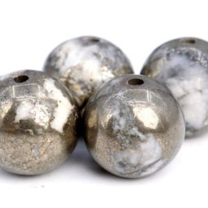 Shop Pyrite Beads! 49 / 24 Pcs – 8MM Gold & White Pyrite Beads Grade AAA Genuine Natural Round Gemstone Loose Beads (102956)   Natural genuine beads Pyrite beads for beading and jewelry making.  #jewelry #beads #beadedjewelry #diyjewelry #jewelrymaking #beadstore #beading #affiliate #ad