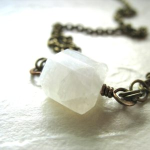 Shop Rainbow Moonstone Necklaces! Moonstone Necklace, Moonstone Jewelry, Handmade Jewelry, Rainbow Moonstone, Gemstone Necklace, Moonstone, Gemstone Jewelry, Made in the USA | Natural genuine Rainbow Moonstone necklaces. Buy crystal jewelry, handmade handcrafted artisan jewelry for women.  Unique handmade gift ideas. #jewelry #beadednecklaces #beadedjewelry #gift #shopping #handmadejewelry #fashion #style #product #necklaces #affiliate #ad