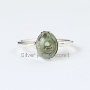 Shop Rainforest Jasper Rings! AAA+ Rainforest Jasper Sterling Silver, Rainforest Ring, Prong Ring,925 Sterling Ring, Gemstone Ring, Women Ring, Silver Rings   Natural genuine Rainforest Jasper rings, simple unique handcrafted gemstone rings. #rings #jewelry #shopping #gift #handmade #fashion #style #affiliate #ad