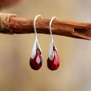 Red Jasper Stone Drop Earrings-Natural Raw Gemstone Meditation Balance Healing Dangle Earrings-Energy Spiritual Protection Strength Gift   Natural genuine Gemstone earrings. Buy crystal jewelry, handmade handcrafted artisan jewelry for women.  Unique handmade gift ideas. #jewelry #beadedearrings #beadedjewelry #gift #shopping #handmadejewelry #fashion #style #product #earrings #affiliate #ad