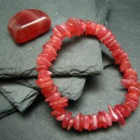 Rhodochrosite Genuine Bracelet ~ 7 Inches ~ 10mm Tumbled Beads | Natural genuine Gemstone jewelry. Buy crystal jewelry, handmade handcrafted artisan jewelry for women.  Unique handmade gift ideas. #jewelry #beadedjewelry #beadedjewelry #gift #shopping #handmadejewelry #fashion #style #product #jewelry #affiliate #ad