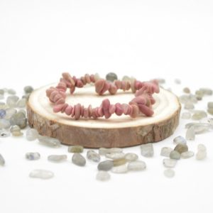 """Shop Rhodonite Chip & Nugget Beads! Natural Chinese Rhodonite Semi-precious Gemstone Chip / Nugget Beads Sample Strand / Bracelet – 5mm – 8mm, Approx 7.5""""   Natural genuine chip Rhodonite beads for beading and jewelry making.  #jewelry #beads #beadedjewelry #diyjewelry #jewelrymaking #beadstore #beading #affiliate #ad"""