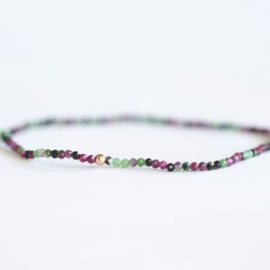 Shop Ruby Zoisite Bracelets! Ruby Zoisite Stretch Bracelet, Delicate Beaded Natural Gemstone Jewelry, Genuine Tiny Faceted Gemstones   Natural genuine Ruby Zoisite bracelets. Buy crystal jewelry, handmade handcrafted artisan jewelry for women.  Unique handmade gift ideas. #jewelry #beadedbracelets #beadedjewelry #gift #shopping #handmadejewelry #fashion #style #product #bracelets #affiliate #ad