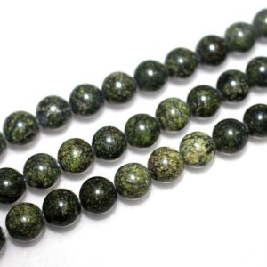 Shop Serpentine Beads! Russian Serpentine Round Beads,4mm 6mm 8mm 10mm 12mm Russian Serpentine Beads, 15 inch per strand, Jewelry Wholesale | Natural genuine beads Serpentine beads for beading and jewelry making.  #jewelry #beads #beadedjewelry #diyjewelry #jewelrymaking #beadstore #beading #affiliate #ad