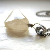 Rutilated Quartz, Rutilated Quartz Necklace, Rutilated Quartz Crystal Necklace, Handmade Stone Necklace, Quartz Jewelry, Faceted Gemstone | Natural genuine Gemstone jewelry. Buy crystal jewelry, handmade handcrafted artisan jewelry for women.  Unique handmade gift ideas. #jewelry #beadedjewelry #beadedjewelry #gift #shopping #handmadejewelry #fashion #style #product #jewelry #affiliate #ad