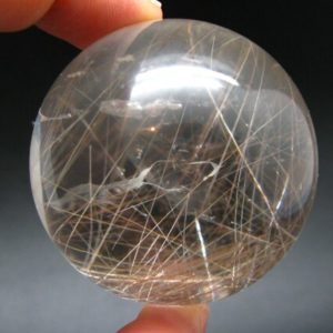 """Shop Rutilated Quartz Shapes! Rutilated Quartz Sphere w/ Rutile From Brazil – 2.0"""" 