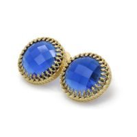 Large Stud Earrings · Statement Earrings · Sapphire Earrings · September Birthstone Earrings · Bridesmaid Gifts Earrings | Natural genuine Gemstone jewelry. Buy crystal jewelry, handmade handcrafted artisan jewelry for women.  Unique handmade gift ideas. #jewelry #beadedjewelry #beadedjewelry #gift #shopping #handmadejewelry #fashion #style #product #jewelry #affiliate #ad