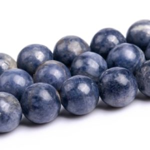 """Shop Sapphire Round Beads! 6MM Blue Sapphire Beads Grade A Genuine Natural Gemstone Round Loose Beads 15.5"""" / 7.5""""Bulk Lot Options (116903) 