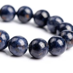 """Shop Sapphire Round Beads! 9MM Dark Blue Sapphire Beads Grade A+ Genuine Natural Gemstone Half Strand Round Loose Beads 8"""" (116894h-2894) 