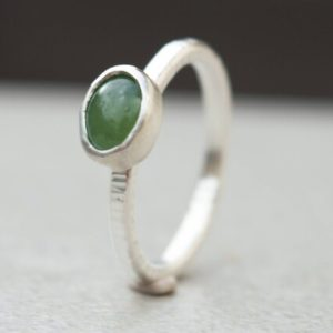 Serpentine ring- Stacking ring- Thin silver ring-Sterling silver ring-Green jewelry-Gemstone silver ring-Stackable ring-Dainty ring | Natural genuine Serpentine rings, simple unique handcrafted gemstone rings. #rings #jewelry #shopping #gift #handmade #fashion #style #affiliate #ad