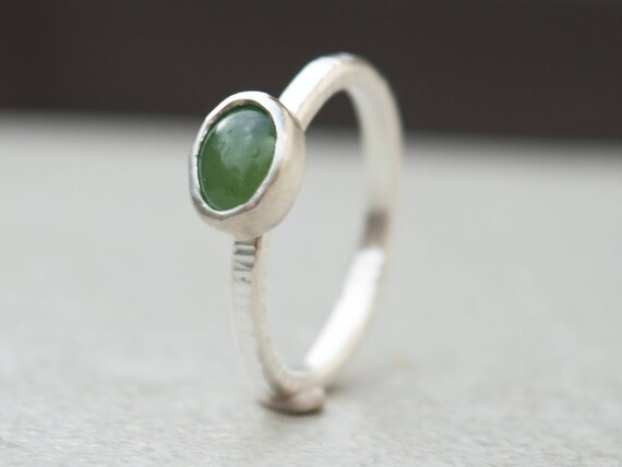 Serpentine Ring- Stacking Ring- Thin Silver Ring-sterling Silver Ring-green Jewelry-gemstone Silver Ring-stackable Ring-dainty Ring