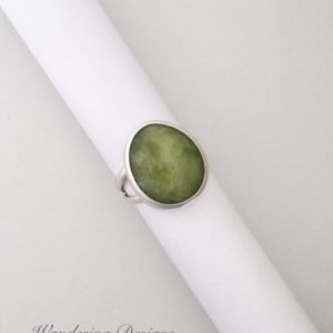 Shop Serpentine Rings! Serpentine Ring, Sterling Silver, Wandering Designs, Handmade, Silversmith, Artisan Jewelry, Green Jewelry, Metalsmith, Size 6.5, Gemstone | Natural genuine Serpentine rings, simple unique handcrafted gemstone rings. #rings #jewelry #shopping #gift #handmade #fashion #style #affiliate #ad