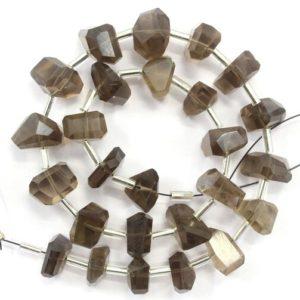 Shop Smoky Quartz Chip & Nugget Beads! 1 Strand Natural Smoky Quartz Nuggets Shape Approx 8-10 mm Faceted Nuggets Beads, Natural Smoky Quartz Beads,26 Pieces Quartz Nuggets Stone   Natural genuine chip Smoky Quartz beads for beading and jewelry making.  #jewelry #beads #beadedjewelry #diyjewelry #jewelrymaking #beadstore #beading #affiliate #ad