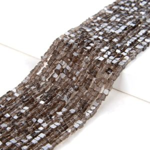 Shop Smoky Quartz Chip & Nugget Beads! 2MM Smoky Quartz Gemstone Nugget Cube Beads 15.5 inch Full Strand (80008879-P13)   Natural genuine chip Smoky Quartz beads for beading and jewelry making.  #jewelry #beads #beadedjewelry #diyjewelry #jewelrymaking #beadstore #beading #affiliate #ad