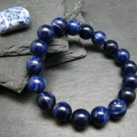 Sodalite Aaa Grade Genuine Bracelet ~ 7 Inches ~ 10mm Round Beads | Natural genuine Gemstone jewelry. Buy crystal jewelry, handmade handcrafted artisan jewelry for women.  Unique handmade gift ideas. #jewelry #beadedjewelry #beadedjewelry #gift #shopping #handmadejewelry #fashion #style #product #jewelry #affiliate #ad