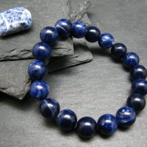 Shop Sodalite Bracelets! Sodalite AAA Grade Genuine Bracelet ~ 7 Inches  ~ 10mm Round Beads   Natural genuine Sodalite bracelets. Buy crystal jewelry, handmade handcrafted artisan jewelry for women.  Unique handmade gift ideas. #jewelry #beadedbracelets #beadedjewelry #gift #shopping #handmadejewelry #fashion #style #product #bracelets #affiliate #ad
