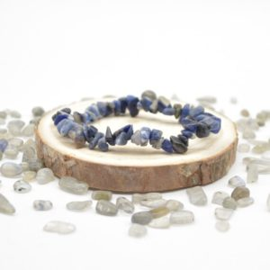 """Shop Sodalite Chip & Nugget Beads! Natural Sodalite Semi-precious Gemstone Chip / Nugget Beads Sample Strand / Bracelet – 5mm – 8mm, Approx 7.5""""   Natural genuine chip Sodalite beads for beading and jewelry making.  #jewelry #beads #beadedjewelry #diyjewelry #jewelrymaking #beadstore #beading #affiliate #ad"""