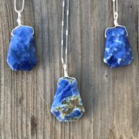 Chakra Jewelry / Sodalite / Sodalite Pendant / Sodalite Necklace / Reiki Jewelry / Blue Sodalite / Sterling Silver | Natural genuine Gemstone jewelry. Buy crystal jewelry, handmade handcrafted artisan jewelry for women.  Unique handmade gift ideas. #jewelry #beadedjewelry #beadedjewelry #gift #shopping #handmadejewelry #fashion #style #product #jewelry #affiliate #ad