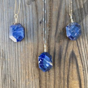 Shop Sodalite Pendants! Chakra Jewelry / Sodalite / Sodalite Pendant / Sodalite Necklace / Sodalite Jewelry / Reiki Jewelry / Blue Sodalite / Sterling Silver | Natural genuine Sodalite pendants. Buy crystal jewelry, handmade handcrafted artisan jewelry for women.  Unique handmade gift ideas. #jewelry #beadedpendants #beadedjewelry #gift #shopping #handmadejewelry #fashion #style #product #pendants #affiliate #ad