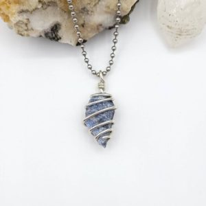 Shop Sodalite Pendants! Sodalite Necklace, Silver Wire Wrapped Sodalite Pendant, Sodalite Jewelry, Crystal Necklace | Natural genuine Sodalite pendants. Buy crystal jewelry, handmade handcrafted artisan jewelry for women.  Unique handmade gift ideas. #jewelry #beadedpendants #beadedjewelry #gift #shopping #handmadejewelry #fashion #style #product #pendants #affiliate #ad