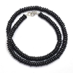 Shop Spinel Necklaces! Black Spinel Beaded Necklace, 5-5.5mm Spinel Smooth Rondelle Tire Beads Layering Necklace, Black Saucer Bead Necklace, Gemstone Necklace   Natural genuine Spinel necklaces. Buy crystal jewelry, handmade handcrafted artisan jewelry for women.  Unique handmade gift ideas. #jewelry #beadednecklaces #beadedjewelry #gift #shopping #handmadejewelry #fashion #style #product #necklaces #affiliate #ad