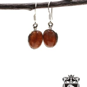 Shop Sunstone Earrings! Oval Shaped Genuine Sunstone 925 SOLID Sterling Silver Earrings E97 | Natural genuine Sunstone earrings. Buy crystal jewelry, handmade handcrafted artisan jewelry for women.  Unique handmade gift ideas. #jewelry #beadedearrings #beadedjewelry #gift #shopping #handmadejewelry #fashion #style #product #earrings #affiliate #ad