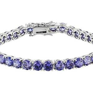 Shop Tanzanite Bracelets! AAA Premium Tanzanite Platinum Over Sterling Silver Bracelet,Birthday Gift,Gift for fitness trainer,Gift For Her,Gift For Woman | Natural genuine Tanzanite bracelets. Buy crystal jewelry, handmade handcrafted artisan jewelry for women.  Unique handmade gift ideas. #jewelry #beadedbracelets #beadedjewelry #gift #shopping #handmadejewelry #fashion #style #product #bracelets #affiliate #ad