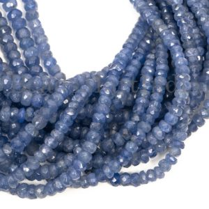 Shop Tanzanite Faceted Beads! Tanzanite Faceted Rondelle Shape Gemstone Beads, Tanzanite Faceted Beads, Tanzanite Rondelle Shape AA Quality Beads, Tanzanite Beads   Natural genuine faceted Tanzanite beads for beading and jewelry making.  #jewelry #beads #beadedjewelry #diyjewelry #jewelrymaking #beadstore #beading #affiliate #ad