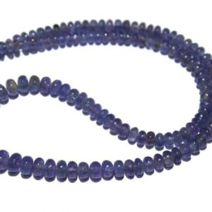 """Shop Tanzanite Rondelle Beads! Tanzanite Beads/Natural Tanzanite Smooth Rondelle Beads/Natural Tanzanite Rondelle Beads/Tanzanite Gemstone/Size 3mm to 6.5mm 12""""/14"""" Strand   Natural genuine rondelle Tanzanite beads for beading and jewelry making.  #jewelry #beads #beadedjewelry #diyjewelry #jewelrymaking #beadstore #beading #affiliate #ad"""