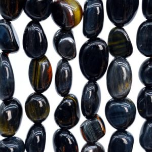 Shop Tiger Eye Chip & Nugget Beads! 44-48 / 22-24 Pcs –  6-8MM Blue Tiger Eye Beads Grade AA Genuine Natural Pebble Nugget Gemstone Beads (108472) | Natural genuine chip Tiger Eye beads for beading and jewelry making.  #jewelry #beads #beadedjewelry #diyjewelry #jewelrymaking #beadstore #beading #affiliate #ad