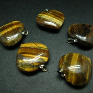 Shop Tiger Eye Pendants! Lot of tiger eye heart shape pendants from Brazil | Natural genuine Tiger Eye pendants. Buy crystal jewelry, handmade handcrafted artisan jewelry for women.  Unique handmade gift ideas. #jewelry #beadedpendants #beadedjewelry #gift #shopping #handmadejewelry #fashion #style #product #pendants #affiliate #ad