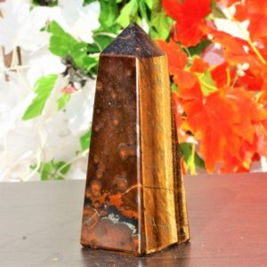 Shop Tiger Eye Points & Wands! Large 120mm 12cm 4 Faceted Natural Brown & Golden Tiger Eye Stone Cats Eye Stone Healing Metaphysical Meditation Obelisk Tower   Natural genuine stones & crystals in various shapes & sizes. Buy raw cut, tumbled, or polished gemstones for making jewelry or crystal healing energy vibration raising reiki stones. #crystals #gemstones #crystalhealing #crystalsandgemstones #energyhealing #affiliate #ad