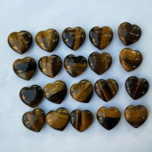 Shop Tiger Eye Shapes! Set of 100 Tiger's Eye Puffy Heart Stone | Natural genuine stones & crystals in various shapes & sizes. Buy raw cut, tumbled, or polished gemstones for making jewelry or crystal healing energy vibration raising reiki stones. #crystals #gemstones #crystalhealing #crystalsandgemstones #energyhealing #affiliate #ad