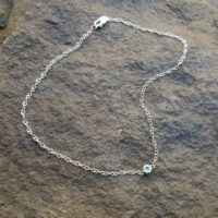 White Gold Anklet, 14k Gold Ankle Bracelet, Something Bride Gift, Blue Topaz December Birthstone Jewelry, Rose Gold Anklet, Wedding Jewelry   Natural genuine Gemstone jewelry. Buy handcrafted artisan wedding jewelry.  Unique handmade bridal jewelry gift ideas. #jewelry #beadedjewelry #gift #crystaljewelry #shopping #handmadejewelry #wedding #bridal #jewelry #affiliate #ad